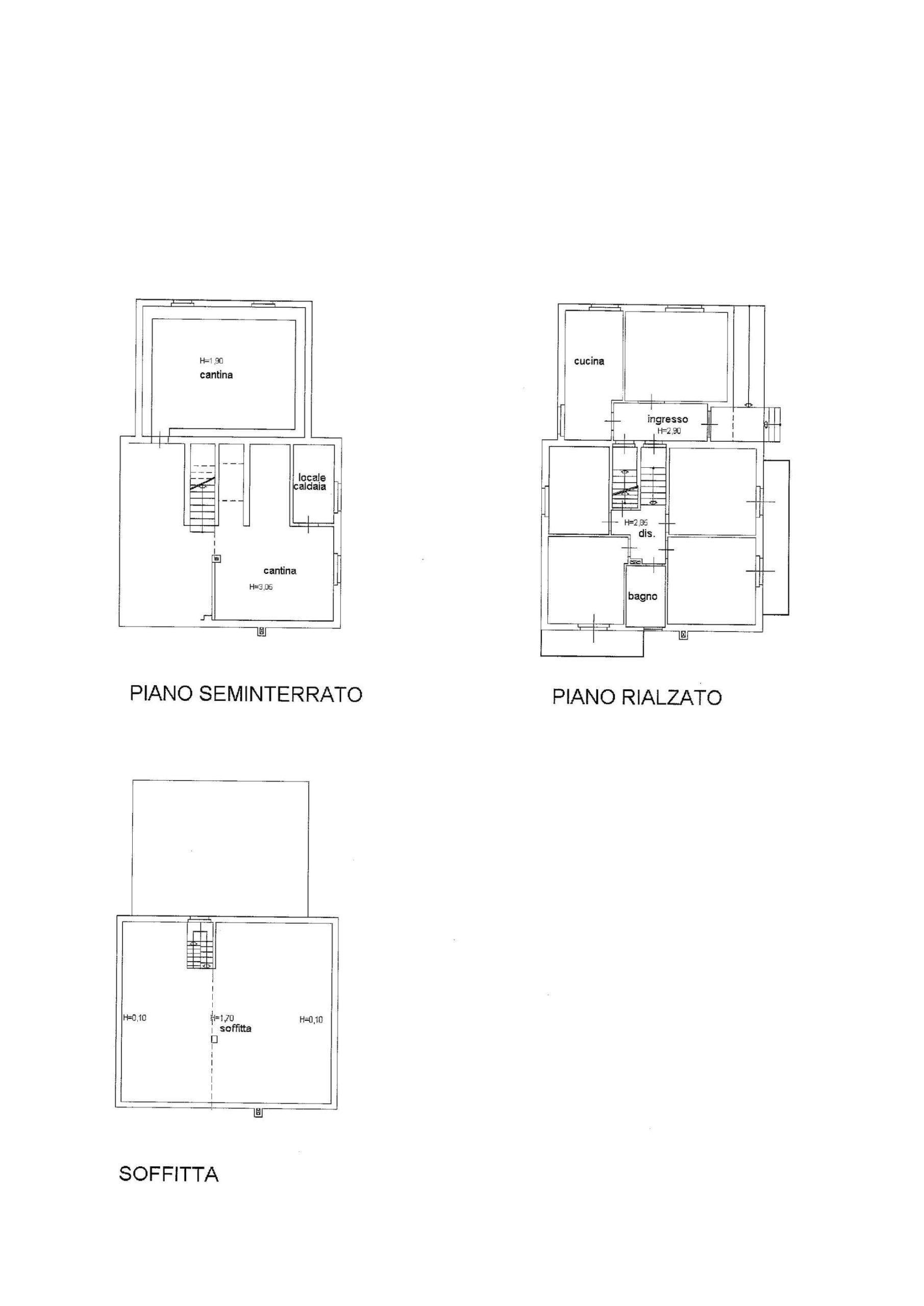 Planimetria casa singola