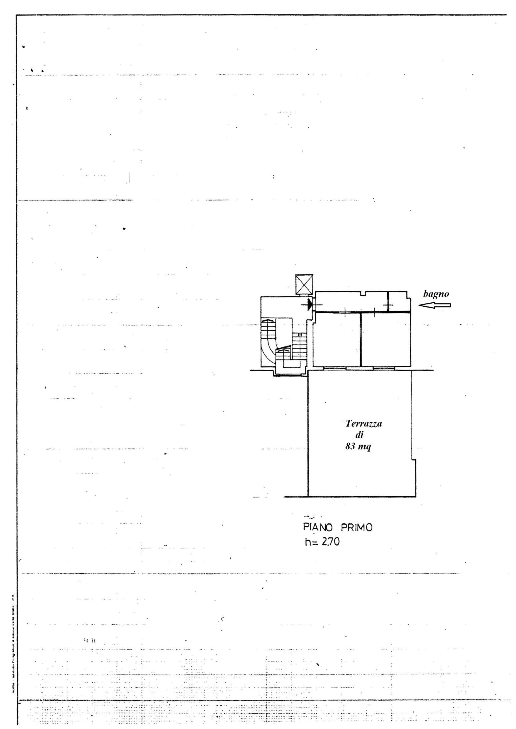 Planimetria appartamento stato attuale uso ufficio