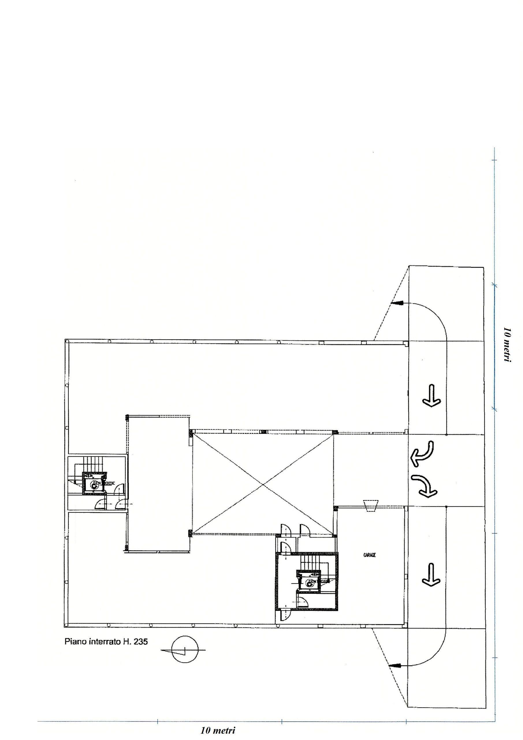 planimetria garage grande
