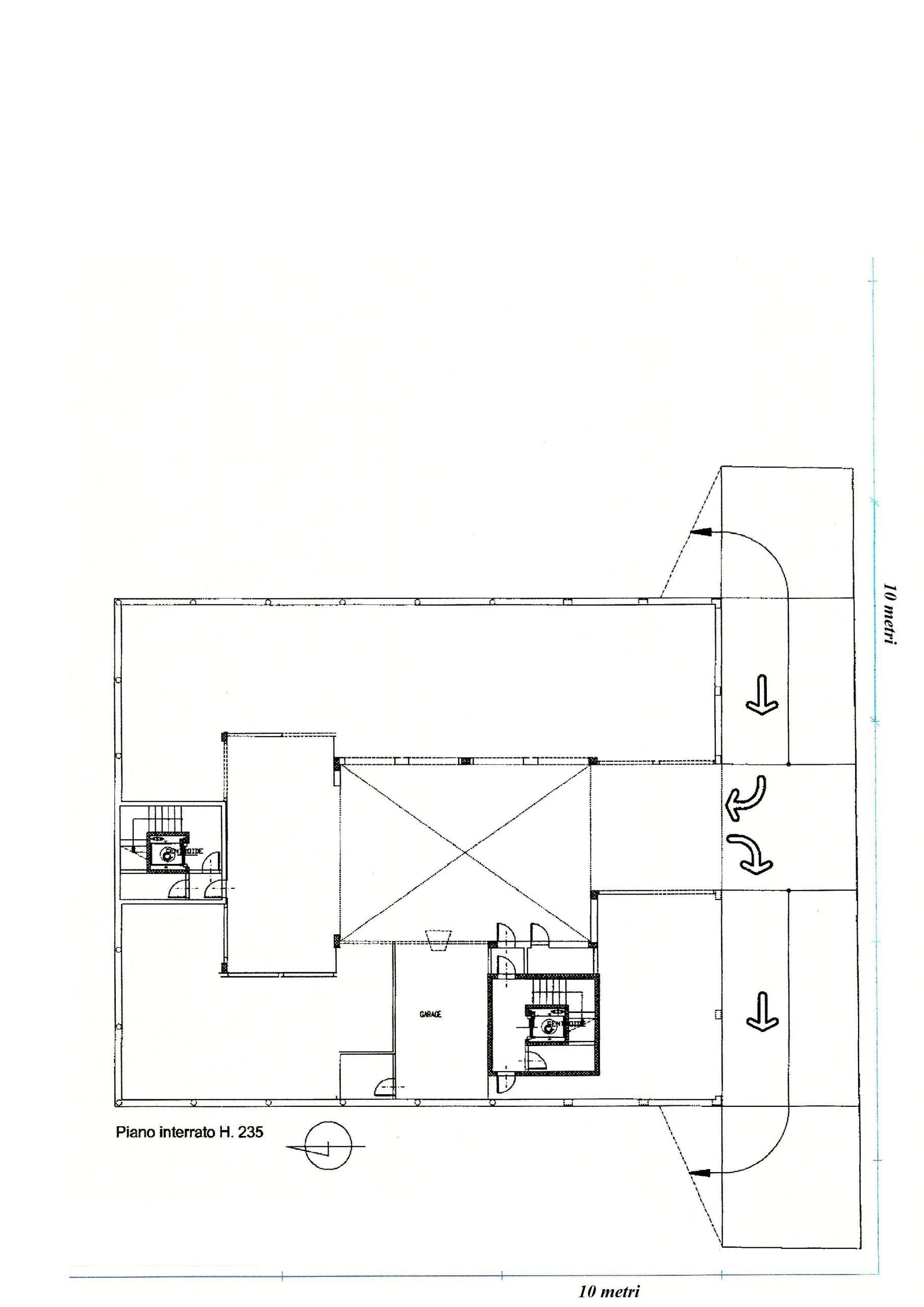 planimetria garage piccolo